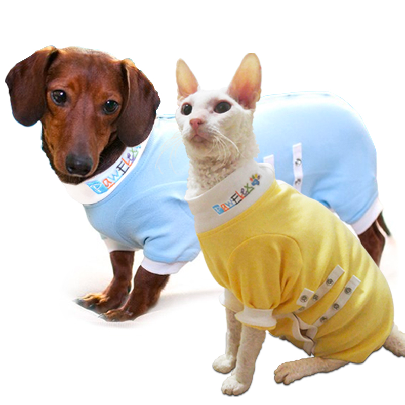 Cat and Dachshund Medical Onesies, onesies for pets, pawflex pet shop, pet shop near me, pawflex, paw bandages for pets
